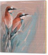 Painting 662 2 Bird 9 Wood Print