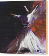 Painting 716 2 Sufi Whirl 2 Wood Print
