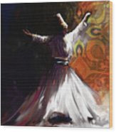 Painting 716 3 Sufi Whirl 2 Wood Print