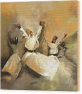 Painting 717 1 Sufi Whirl 3 Wood Print