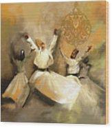 Painting 717 2 Sufi Whirl 3 Wood Print