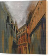 Painting 791 4 Wooden Architecture Wood Print