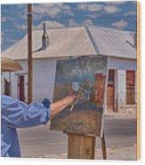 Painting Barrio Viejo Wood Print