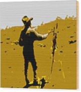 Painting Cowboy Wood Print