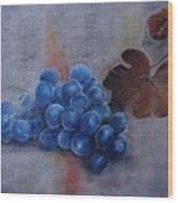 Painting Grapes Wood Print