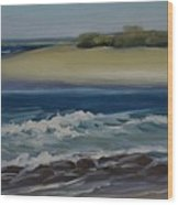 Painting Happy Valley Caloundra Qld Plein Air Painting Wood Print
