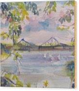 Painting In Nyack Wood Print