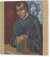 Painting Of Fr Balthasar Gracian Sj 180 Wood Print