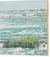 Painting Of Niagara Falls Wood Print