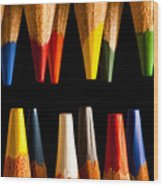 Painting Pencils Wood Print