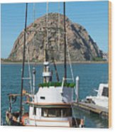 Painting The Trudy S Morro Bay Wood Print