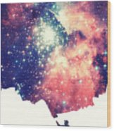 Painting The Universe Awsome Space Art Design Wood Print