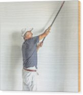 Painting White Wall Wood Print