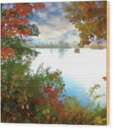 Paints Of Fall Wood Print