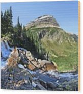 Paiota Falls - Glacier National Park Wood Print