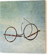Pair Of Glasses Wood Print by Bernard Jaubert