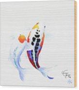 Pair Of Koi Wood Print