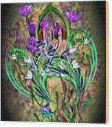 Paisley Floral Wood Print