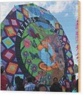 Pajaros Giant Kite Wood Print