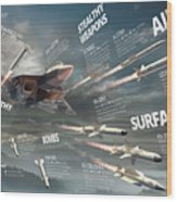 Pak Fa Armament Infographic Wood Print