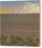 Pakefield Beach Sunset Wood Print