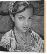 Pakistani Girl Wood Print