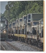 Pal Military Train Roll-by Wood Print