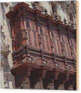 Palace Balcony Wood Print