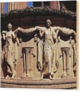 Palace Of Fine Arts Maidens Three Wood Print