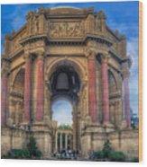 Palace Of Fine Arts With Atmospherics  Wood Print