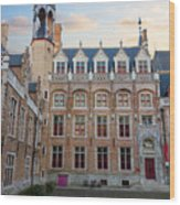 Palace Of Gruuthuse In Brugge Wood Print