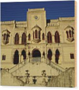 Palace Of The Maharaja Of Tehri-garhwal Near Rishikesh, India Wood Print