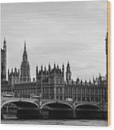 Palace Of Westminster And Elizabeth Tower Wood Print