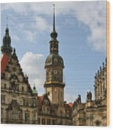 Palace Square In Dresden Wood Print by Christine Till