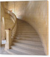 Palace Staircase Wood Print