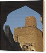Palace Through The Arch Wood Print
