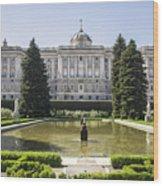 Palacio Real De Madrid Wood Print