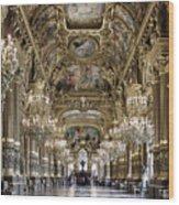 Palais Garnier Grand Foyer Wood Print