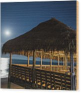 Palapa Paradise Wood Print