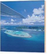 Palau Aerial Wood Print