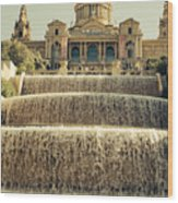 Palau Nacional Barcelona Wood Print