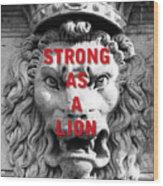 Palazzo Pitti Firenze Lion Wood Print
