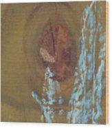 Pale Blue Chalk On Wood Wood Print