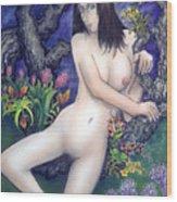 Pale Flale Wood Print