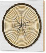 Pale Log End Wood Print