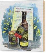 Palestine Oil In Reeth Wood Print