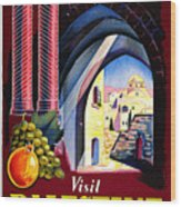 Palestine Travel Poster Wood Print