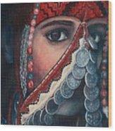 Palestinian Woman Wood Print