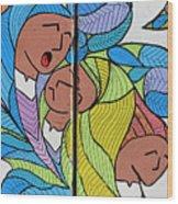 Palestinian Women Wood Print