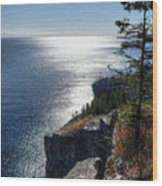 Palisade Head Lake Superior Minnesota Winter Afternoon Wood Print